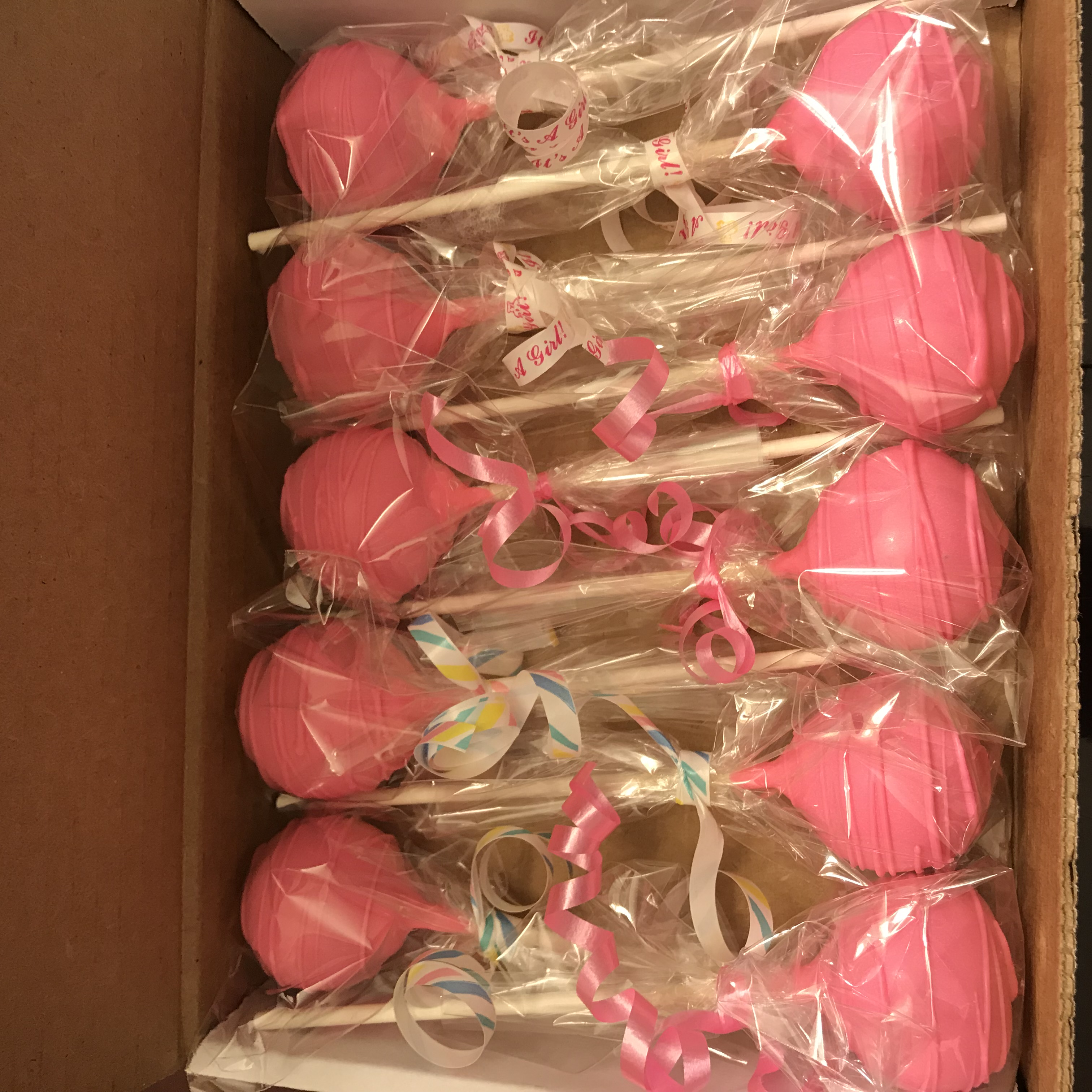 Dz Baby Blue or Baby Pink Cake Pops